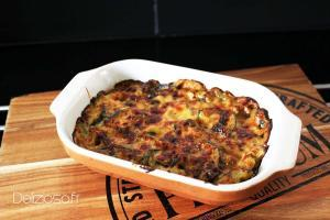 Gratin de courgette au curry