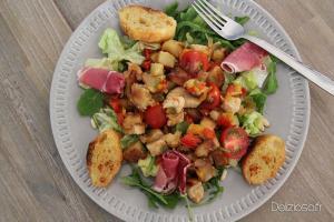 Salade de pommes de terre et poulet