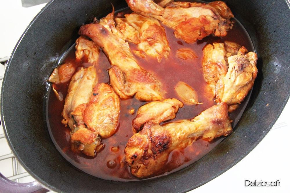 Mijoté de Dinde au chorizo et à l'ail