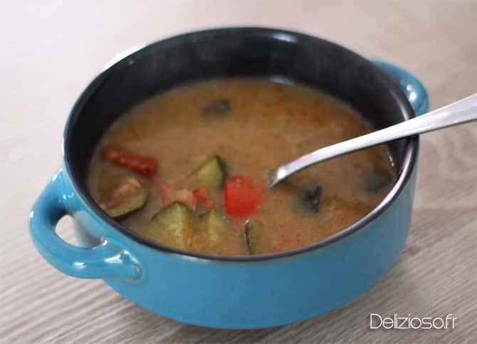 Soupe Provençale au chorizo - 160 kcal - Délizioso