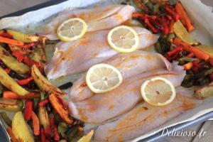 Filet de Dorade et légumes rotis