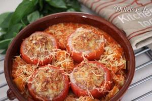 Tomates farcies confites