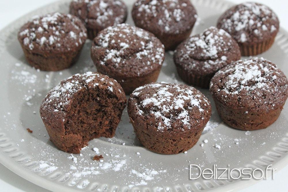 Muffin chocolat noisette allégés