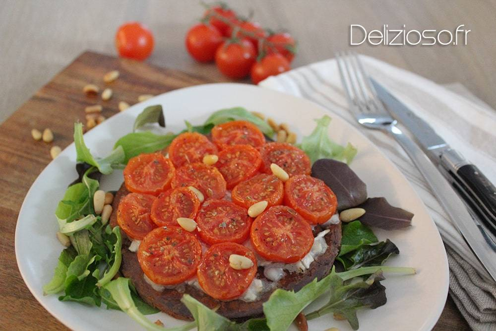 Tartes fines au tomates confites