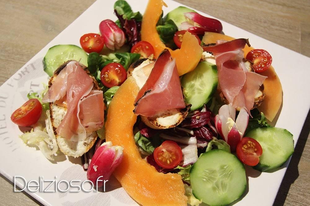 Salade Melon Ricotta Speck
