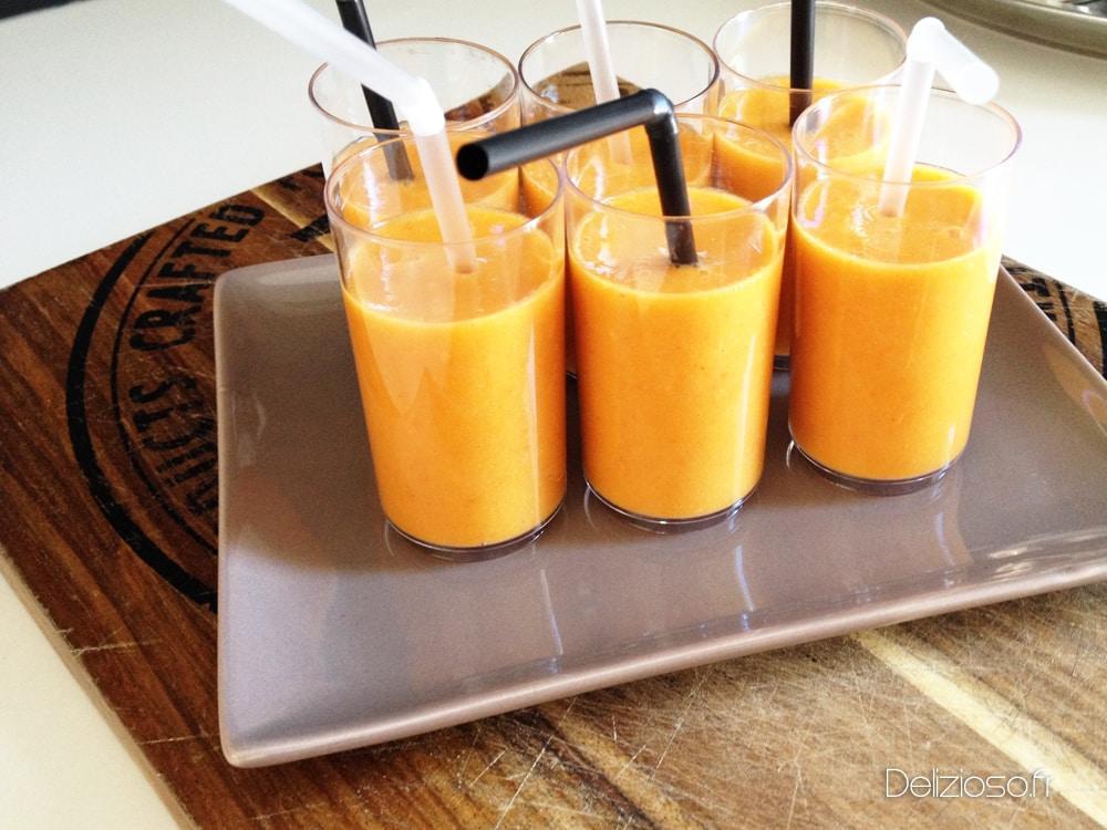 Gaspacho de poivrons au chorizo