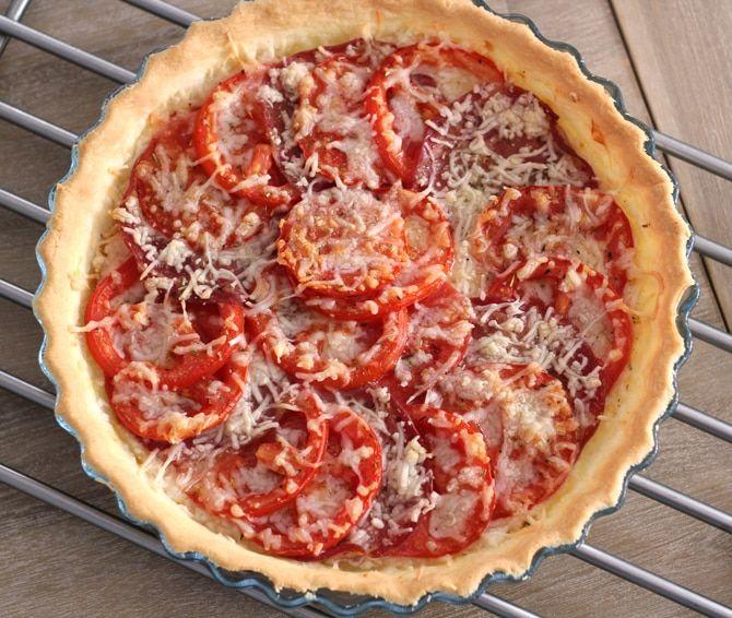 Tarte Tomates Chèvre Coppa