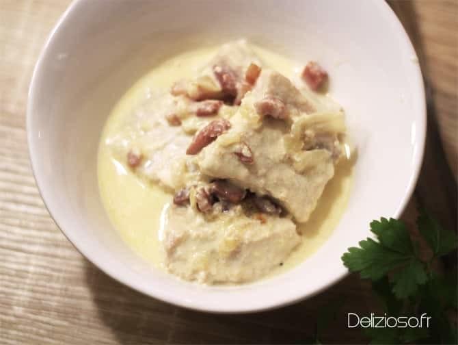 Blanquette de poisson aux lardons - Délizioso