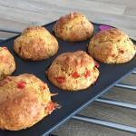 Muffins Salés aux poivrons