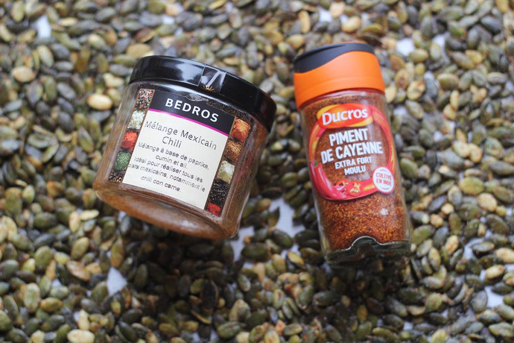 graines de courges grillées aux épices pour l'apéritif