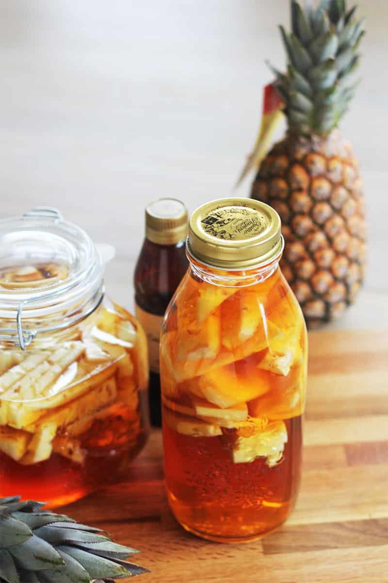 Rhum arrangé ananas caramel